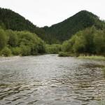 Река Вах в района за тренировките