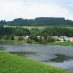 Река Орава по време на тренировките